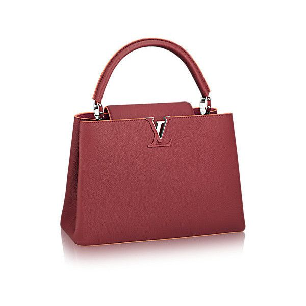 0a5aed09e602 Capucines MM Taurillon Leather (68.595 ARS) ❤ liked on Polyvore featuring  bags