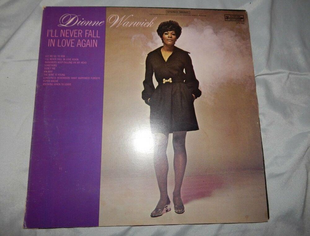 1970 Soul Lp Dionne Warwick I Ll Never Fall In Love Again Sps
