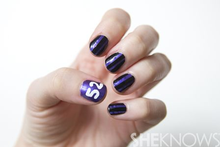 How To Do A Ravens Inspired Nail Design Football Nail Designs