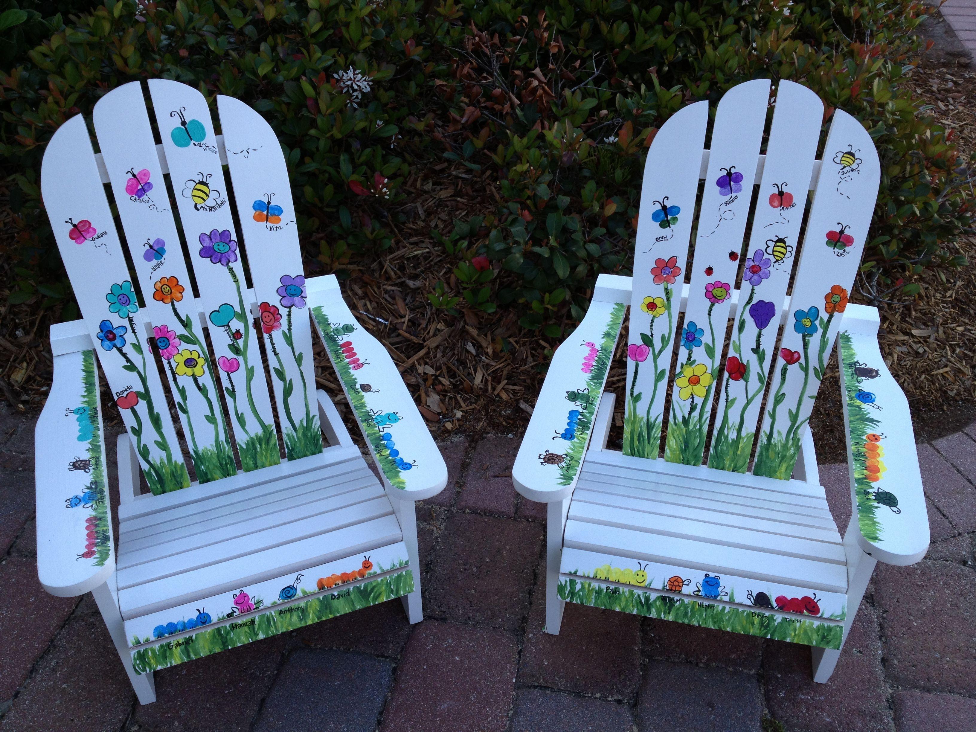 Garden Theme- Thumbprint Class project  Preschool auction