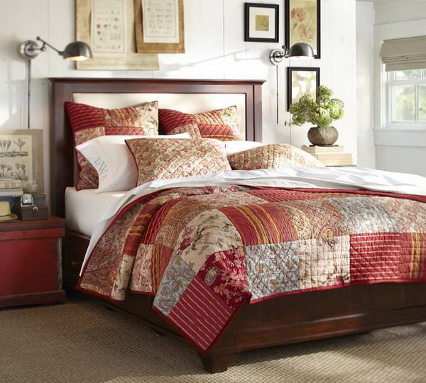 Modern Bedroom Ideas with Patchwork Quilt Bedding Sets