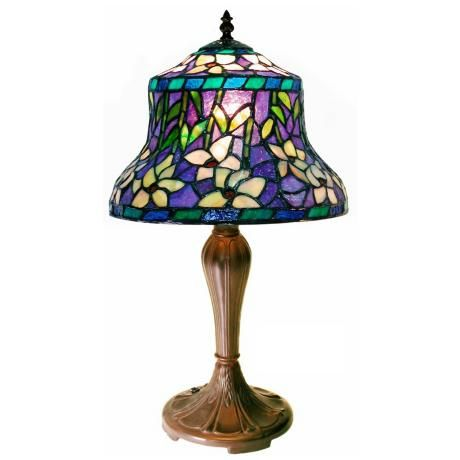 and Ivory Lily Table Lamp Tiffany Purple Style Accent sdxBQrothC