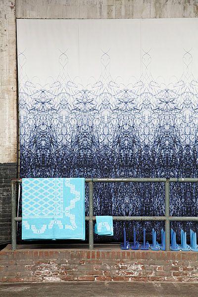 Ballpoint Pen wallpaper by Alissia Melka-Teichroew for Rollout (photo Lisa Klappe)