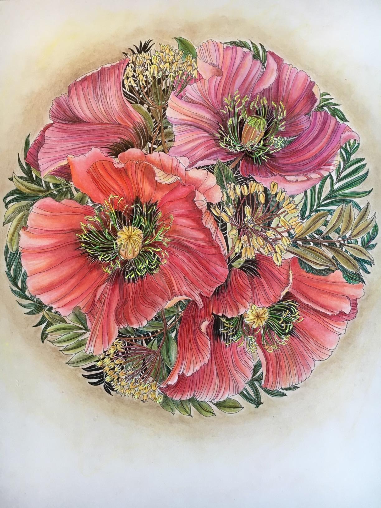 Floribunda: A Flower Coloring Book: Leila Duly: Beautiful book By ...