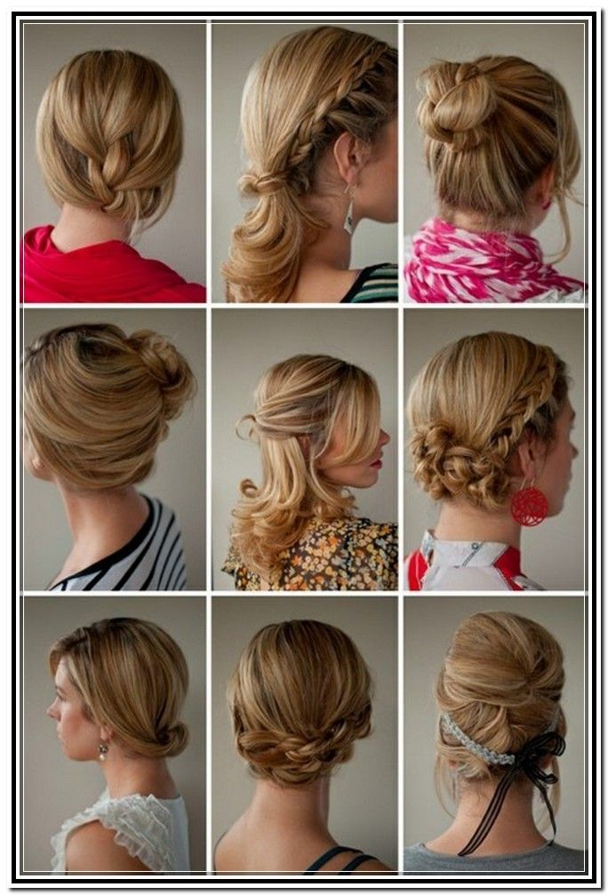 easy updos medium length hair