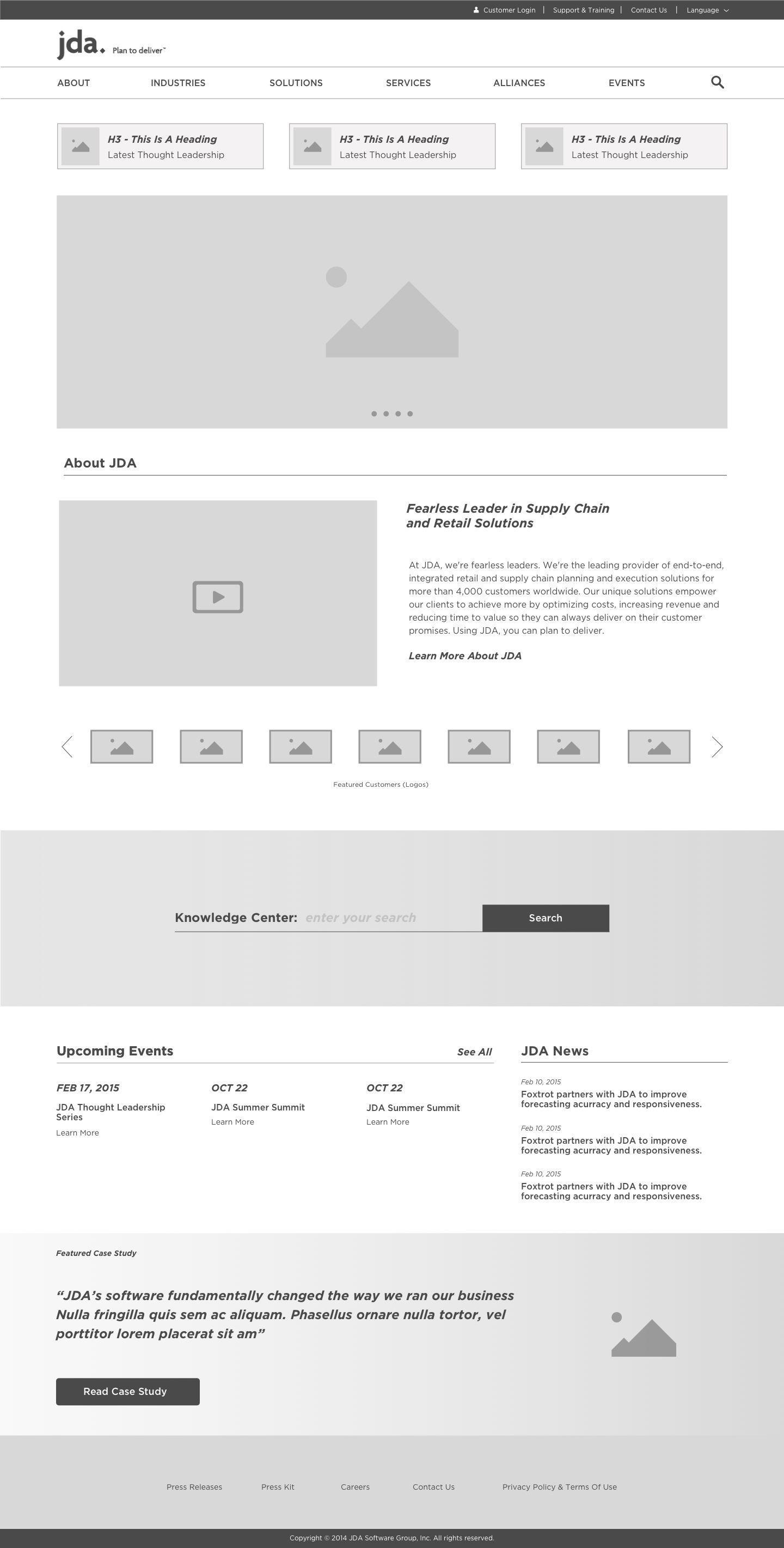 Jda Home Wireframe Design Website Design Layout Minimal Web Design