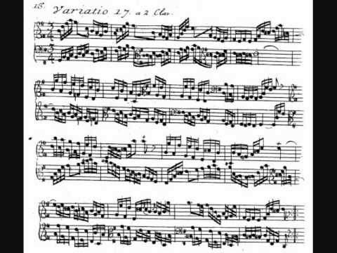 "J. S. Bach - Aria with Diverse Variations ""Goldberg,"" BWV 988  Glenn Gould, piano (1955)  Text: First publication, Balthasar Schmidt, Nürnberg 1741. Freehand engraving by the publisher.