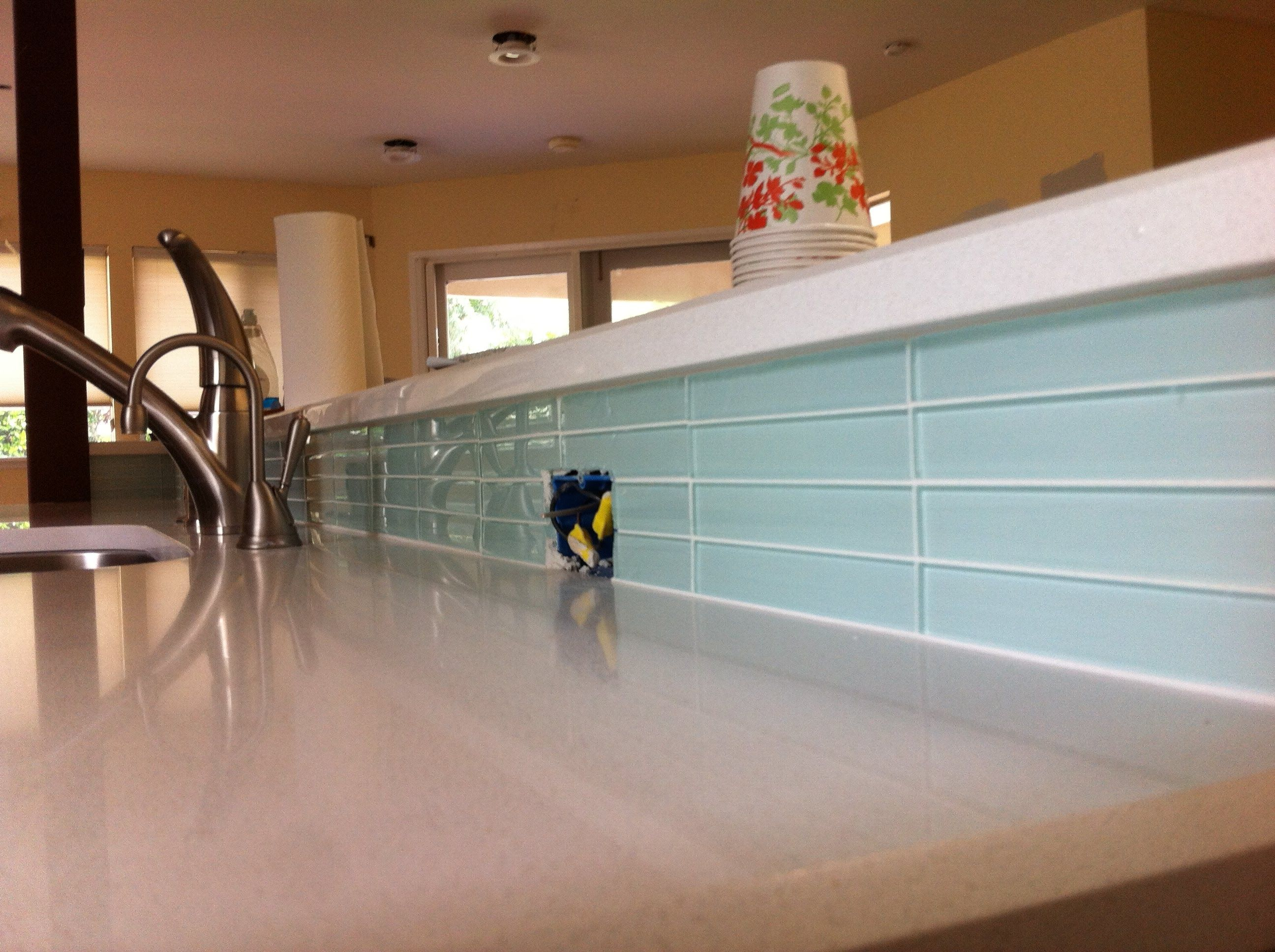 How to Tile and Seal Backsplash's 1 Stone &Tile ,1Glass by