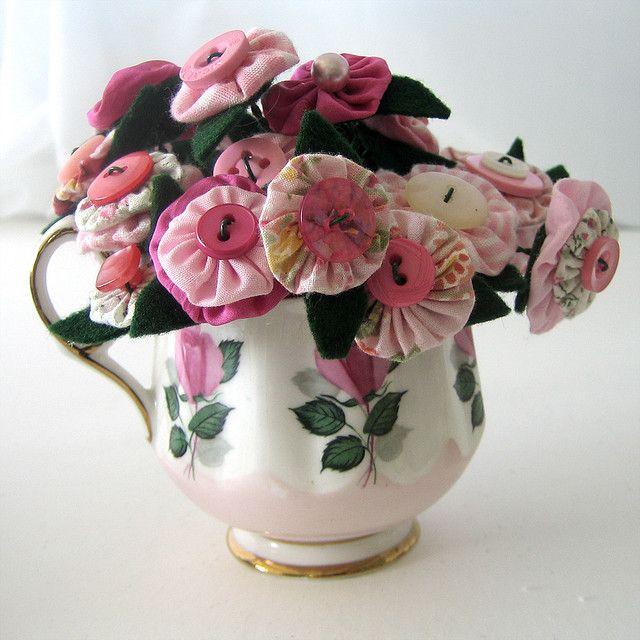 Pinks Flower Crafts Fabric Flower Tutorial Fabric Flowers