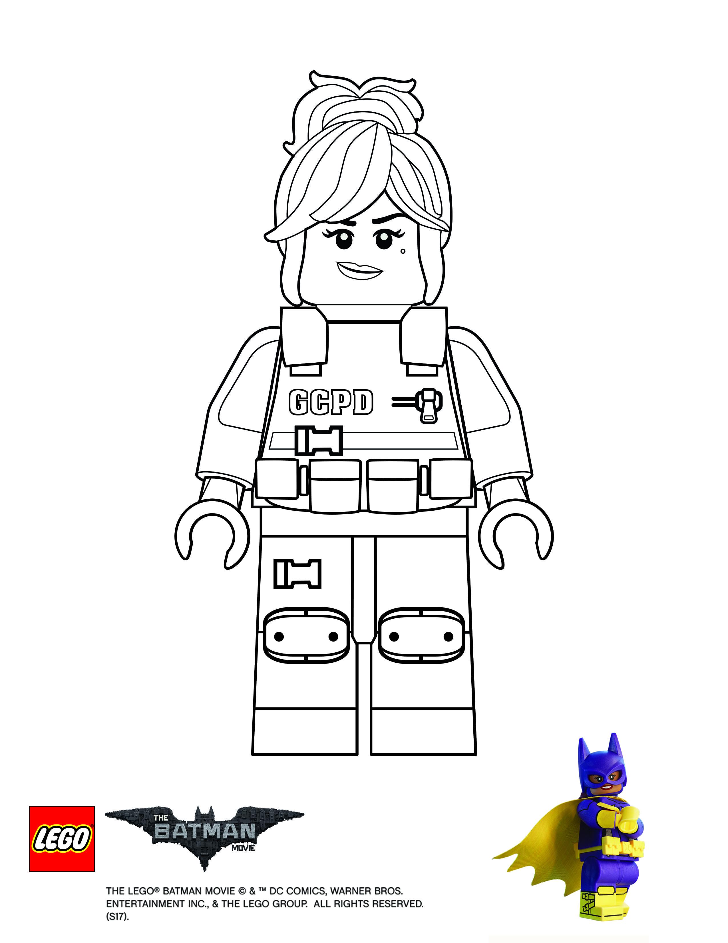 Coloring Page Barbara Gordon Lego Coloring Pages Batman Coloring Pages Lego Coloring