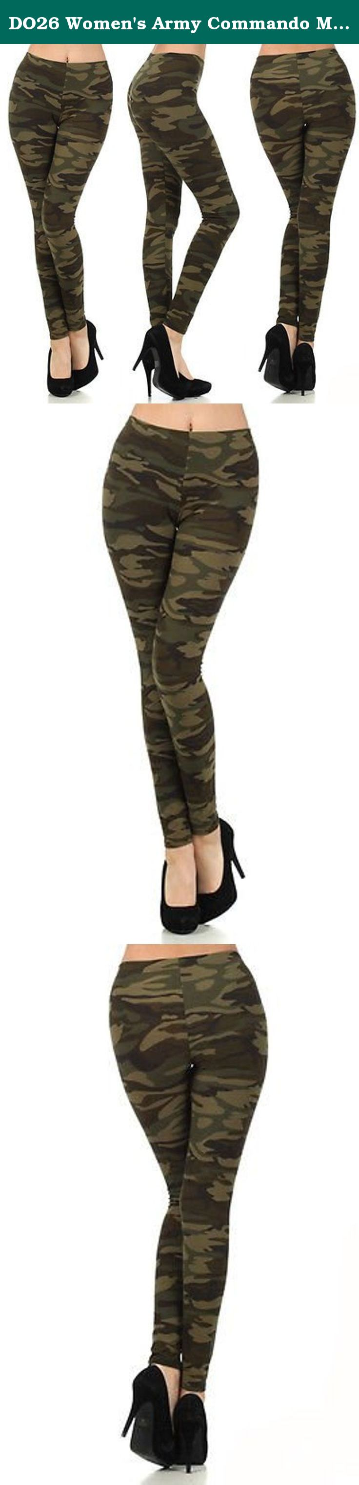 NEW Women/'s Army Commando Military Print Camouflage Jeggings Leggings ONE SIZE
