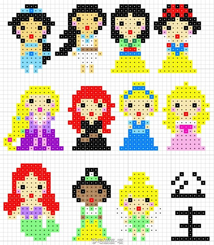 disney princess perler bead pattern disney perler beads pinterest b gelperlen b gelperlen. Black Bedroom Furniture Sets. Home Design Ideas