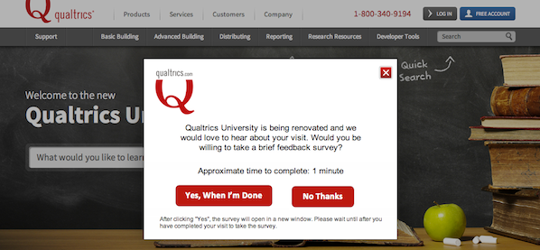Pop Up Survey Examples Google Search Survey Examples Pop Up
