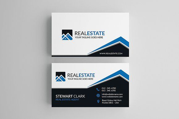 Creative Real Estate Business Card By Shahjhan On Creativemarket