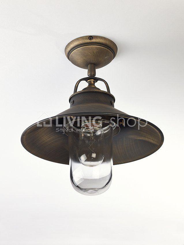 Klassieke plafondlamp brons metaal Biliardo outdoor @ www.LIVING ...