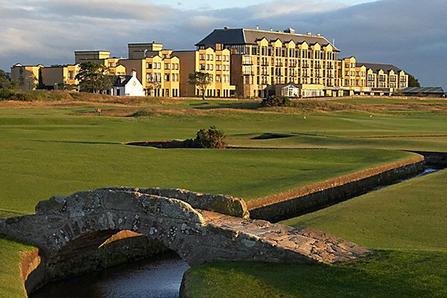 Old Course Hotel & Spa. Located just outside of the beautiful town St. Andrews, this venue has views to die for!