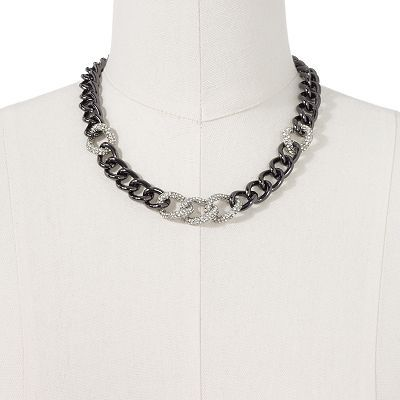 $30 Jennifer Lopez Two Tone Simulated Crystal Necklace