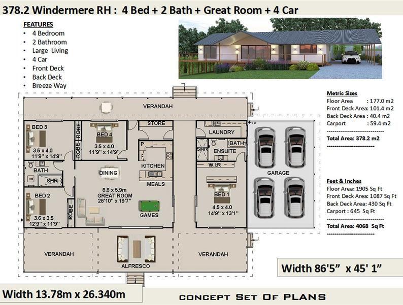 378m2 Or 4068 Sq Feet Acreage Home Design Hillside House Etsy Hillside House House Plans Online House Design