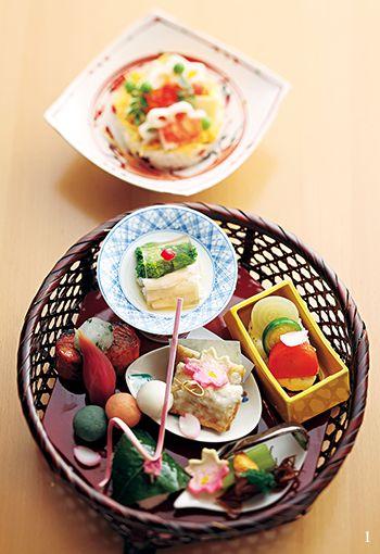 春を欲張る懐石弁当 日本料理 食べ物のアイデア 和食