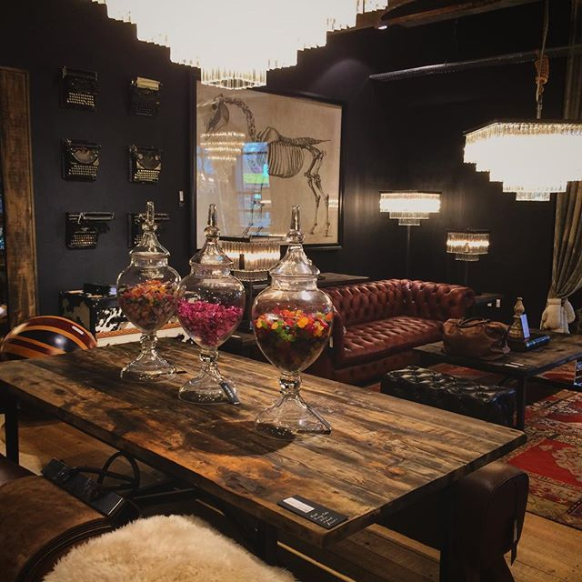 Log In Instagram British Decor Indoor Bar Gentlemans Lounge #steampunk #living #room #decor