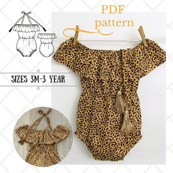 b2172183203a Boho Baby romper pattern