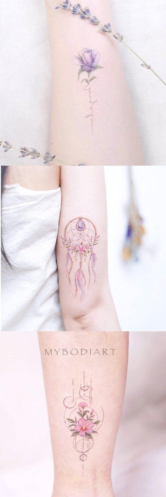 Photo of Ideas lindas del tatuaje del brazo de la flor floral de la acuarela para las mujeres – Ideas de tatuaje de …