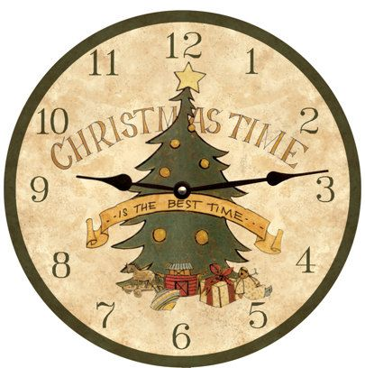Christmas Time Clock Etsy Clock Christmas Clock Christmas Time