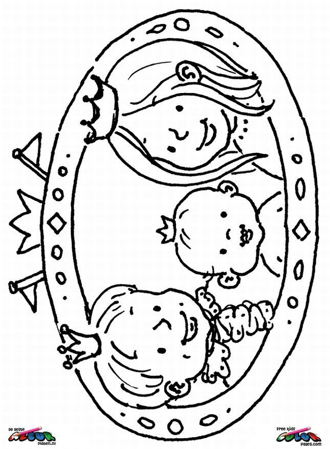 Koninginnedag Kleurplaat Koningsdag Oranje Feestdagen