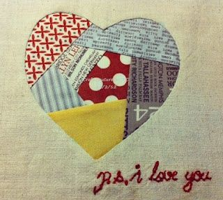 patchwork heart paper pieced template linked all things hearts