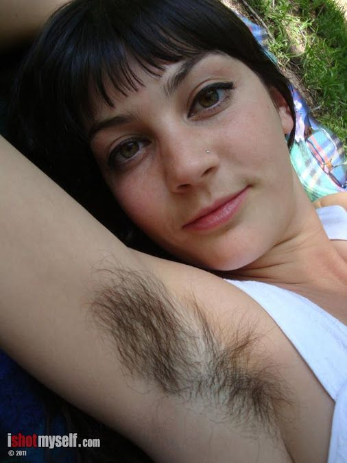 Hairy bottom girl