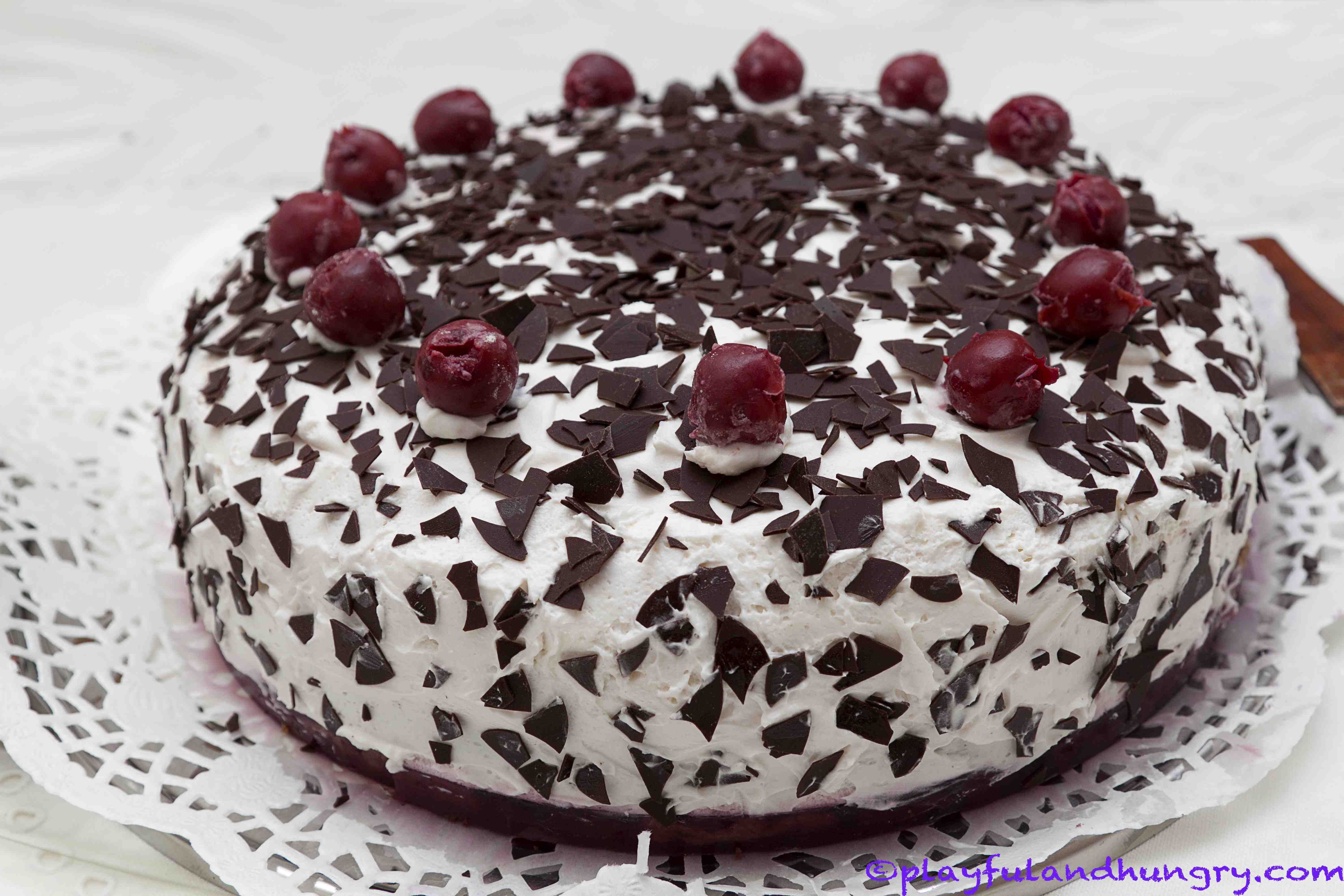 Black Forest Birthday Cake In Heart Shape Google Search Cake