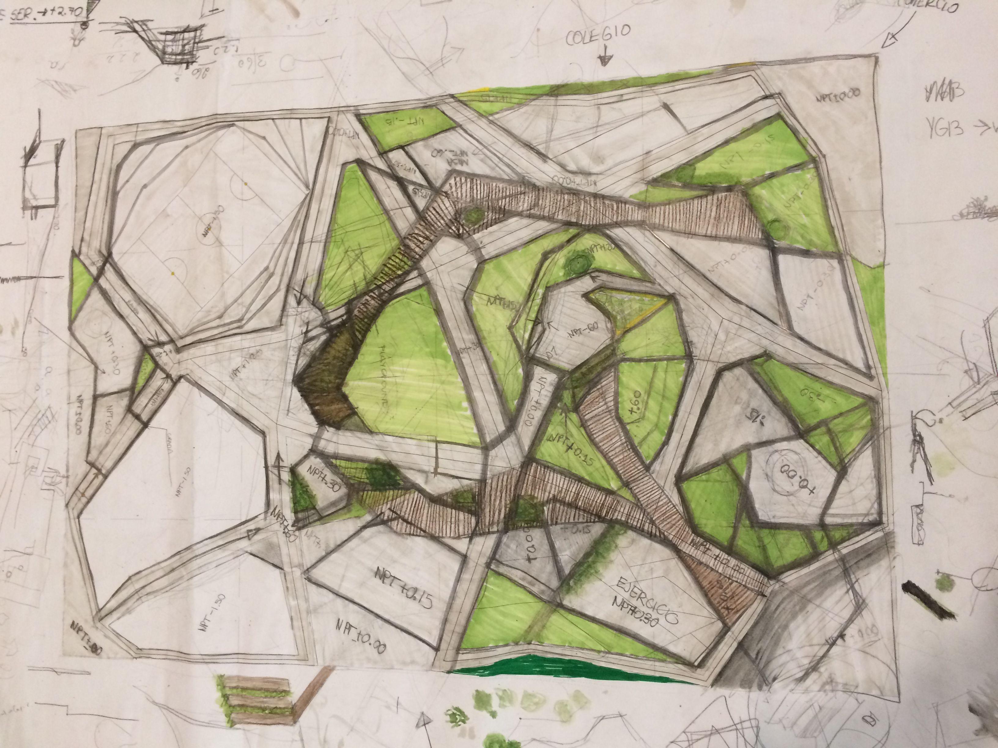 #landscape #public #architecture #student #park #design #drawing #paisajismo