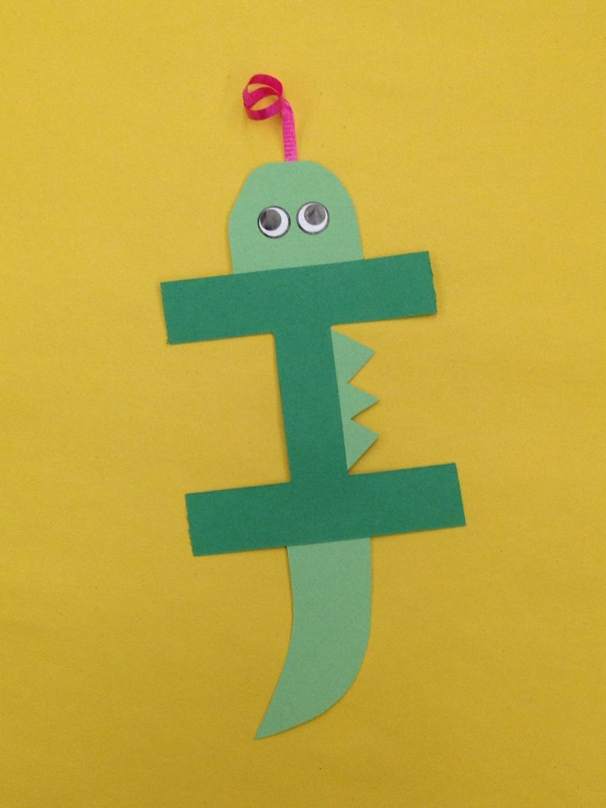 I is for iguana letter craft Letter a crafts, Letter i
