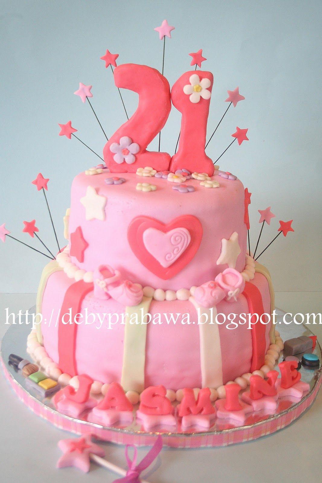 Pleasing 21St Birthday Cake For Jasmine With Images 21St Birthday Cakes Personalised Birthday Cards Cominlily Jamesorg