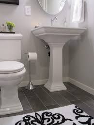 bathroom flooring with white subway tile - Google Search