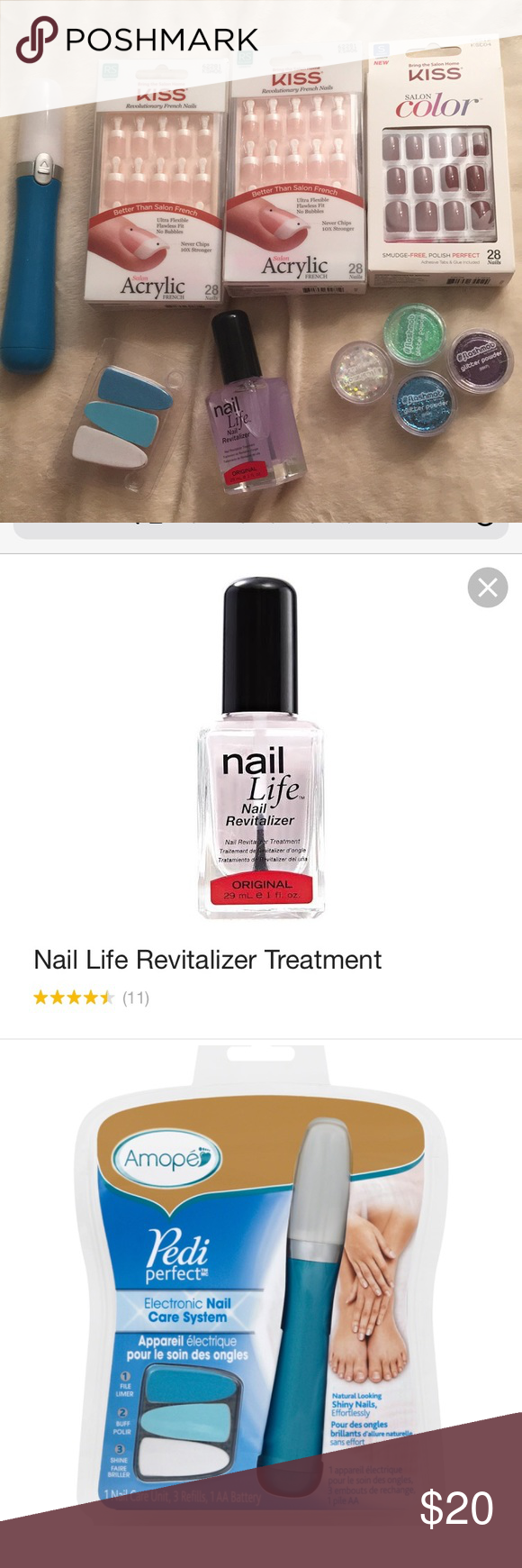 Miscellaneous nail care bundle | Short french nails, Short red nails ...