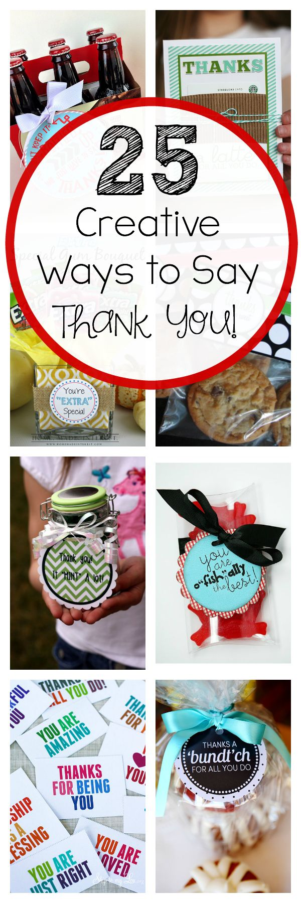 Here are 25 fun and creative ways to say thank you!  sc 1 st  Pinterest & 25 Creative u0026 Unique Thank You Gifts | Favorites. From Crazy Little ...