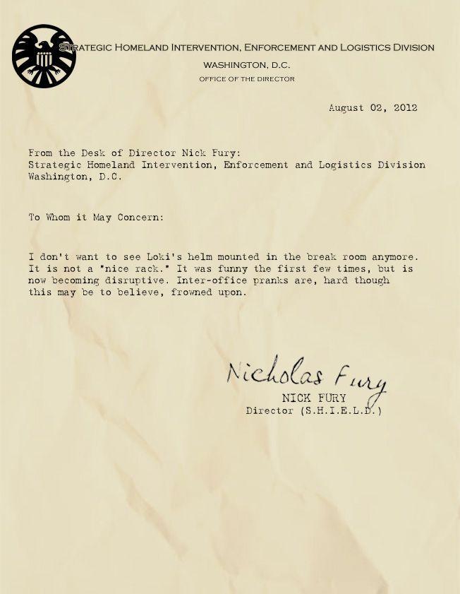 INTER-OFFICE PRANKS MarvelShield Memo Pinterest Pranks - inter office letter