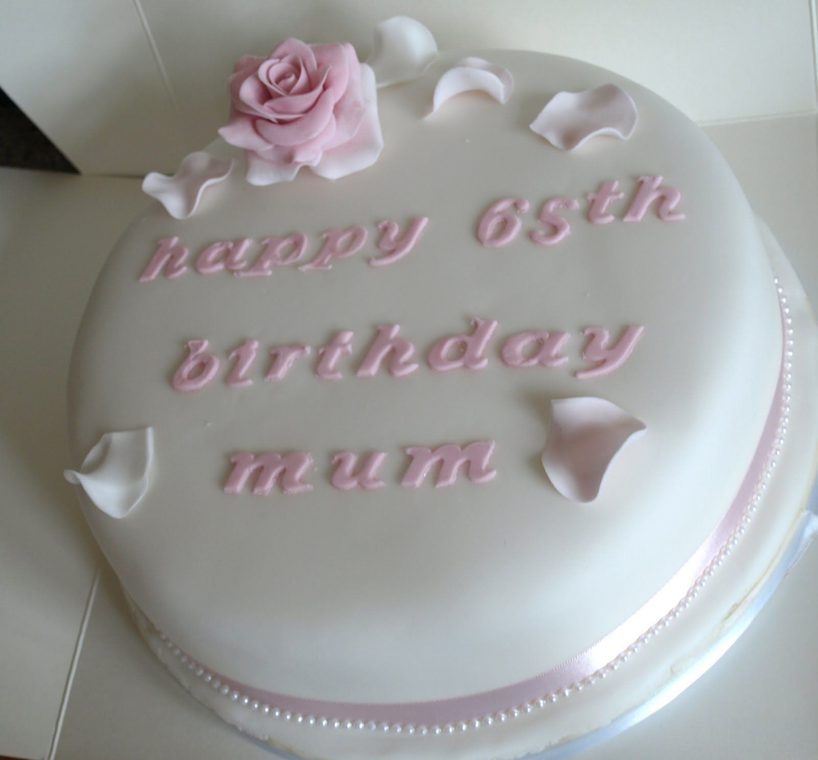Elegant Birthday Cakes For Women Simple And Elegant 65th