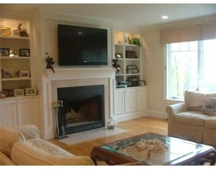 tv over fireplace ideas | family room tv over fireplace | For the Home