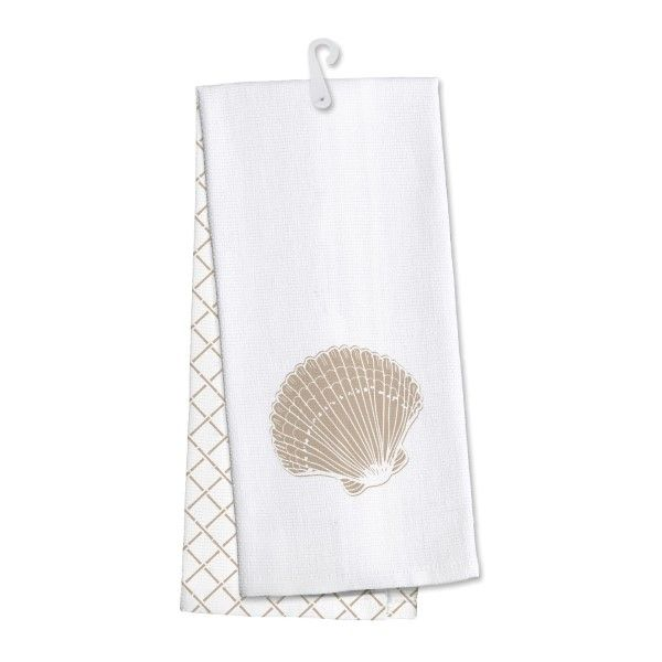 Wholesale Seashell Kitchen Dish Towel Made Cotton Super Absorbent