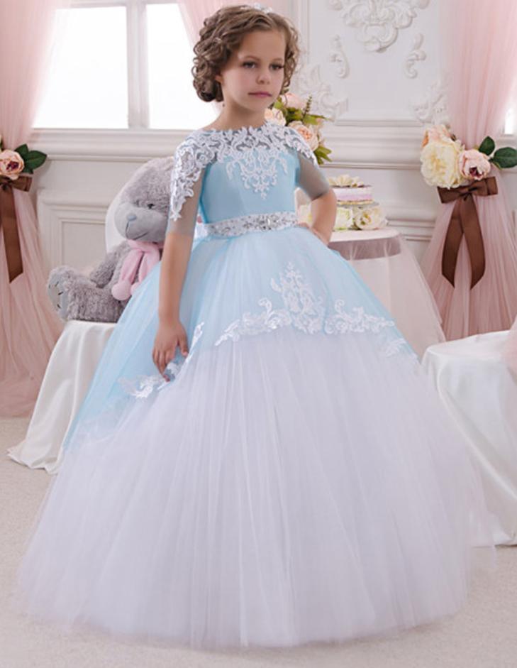 Flower Girl Dress Princess Baby Kids Party Wedding Junior Bridesmaid Communions