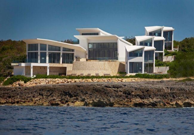 private ferienvilla anguilla weiße fassade hamilton cecconi simone