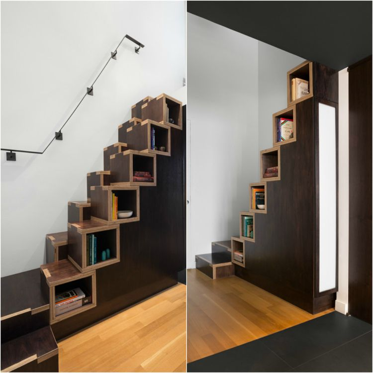 escalier gain de place premier pas vers am nagement petit espace mezzanine pinterest. Black Bedroom Furniture Sets. Home Design Ideas