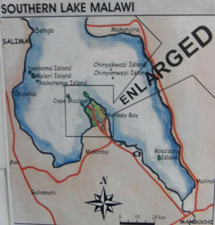 Lake Malawi Africa Map.Another Map Of The Southern Part Of Lake Malawi Malawi Maps