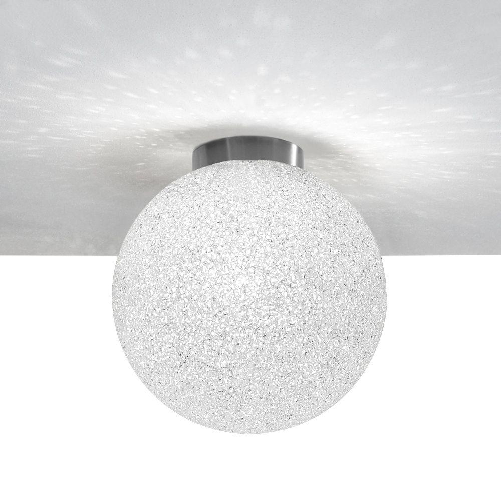 Iceglobe Kugel Deckenlampe Kugelleuchte Aus Polycarbonat Mit Korniger Oberflachenstruktur Und Der Impression Eines Eisballs Design Leuchten Deckenlampe Lampe