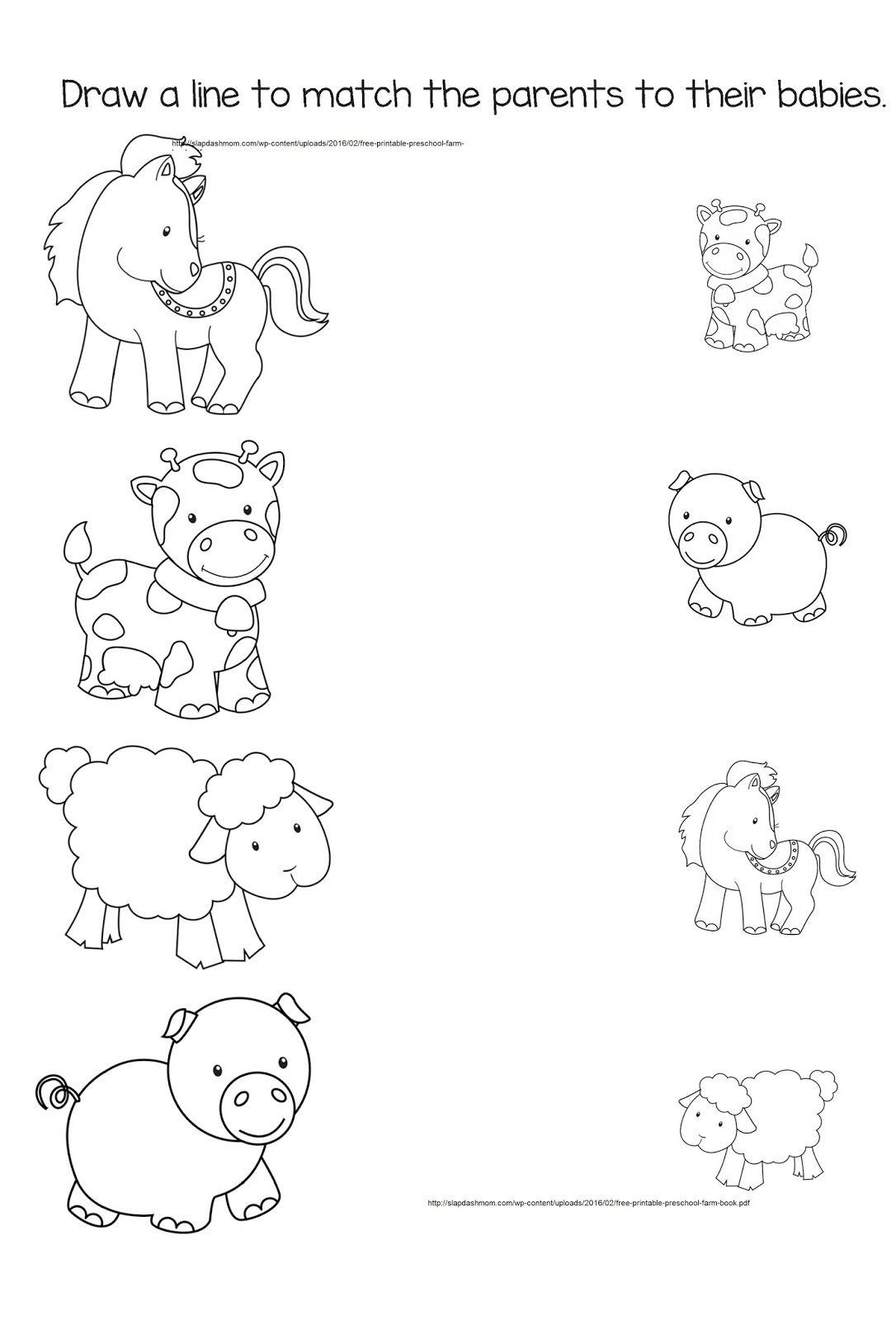Resultado de imagen para farm animals activities coloring pages