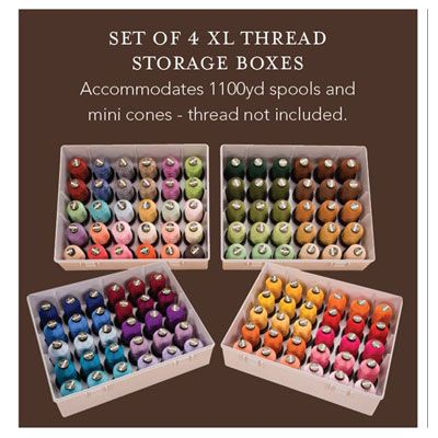 Superior XL Thread Storage Boxes   Set Of 4   Sewing U0026 Craft Club