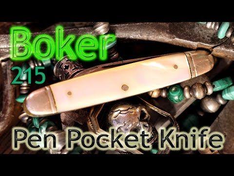 Vintage Boker U.S.A. 215 Pen Pocket Knife - YouTube