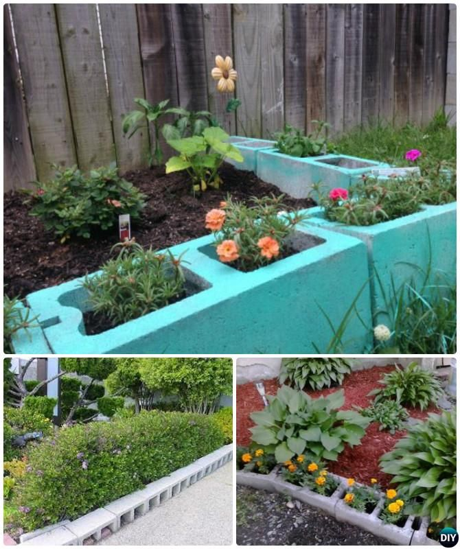 Cinder Block Raised Flower Bed – DECOOR |Cinder Block Flower Bed Plans
